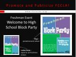 promote and publicize fccla15