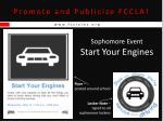 promote and publicize fccla17