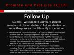 promote and publicize fccla24
