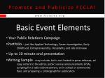 promote and publicize fccla5