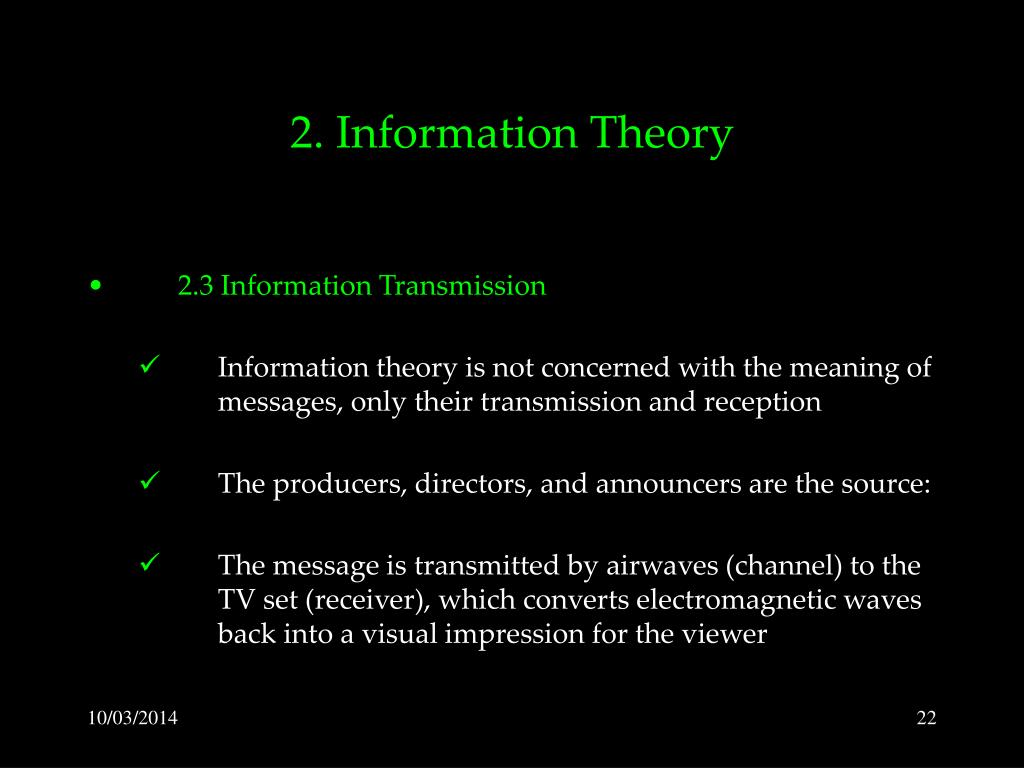 2. Information Theory