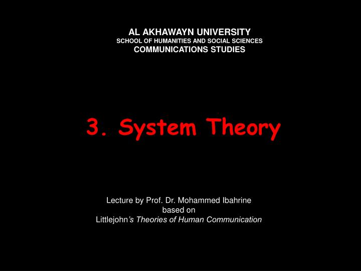 3 system theory