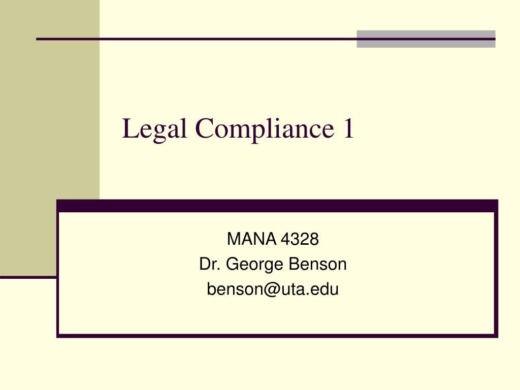 legal compliance 1 l.