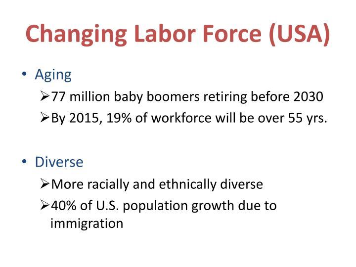 Changing labor force usa