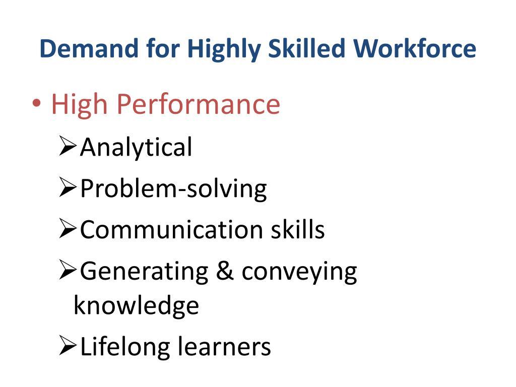 Demand for Highly Skilled Workforce