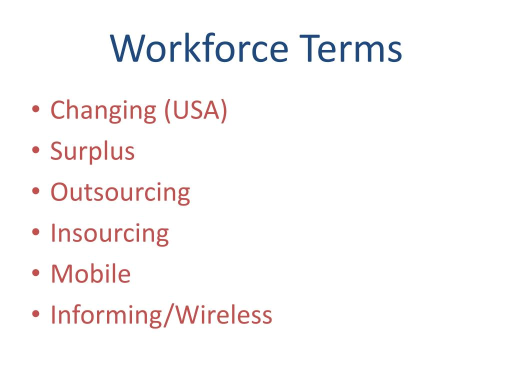 Workforce Terms