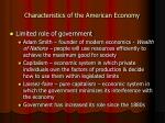 characteristics of the american economy11