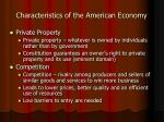 characteristics of the american economy14