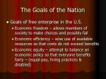 the goals of the nation