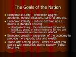 the goals of the nation16
