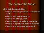 the goals of the nation17