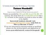 undergraduate tutorial center