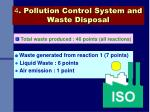 4 pollution control system and waste disposal