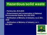 hazardous solid waste