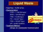liquid waste