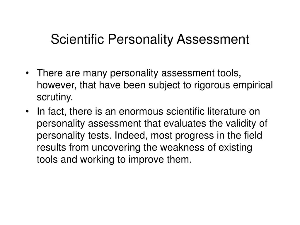 Scientific Personality Assessment