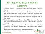 hosting web based medical software