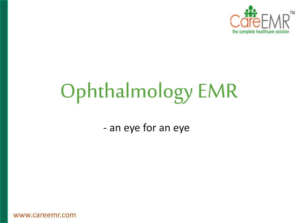 ophthalmology emr l.