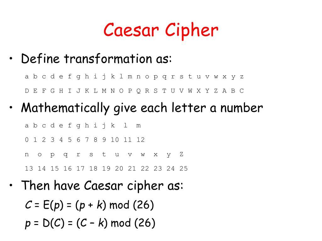 Caesar Cipher