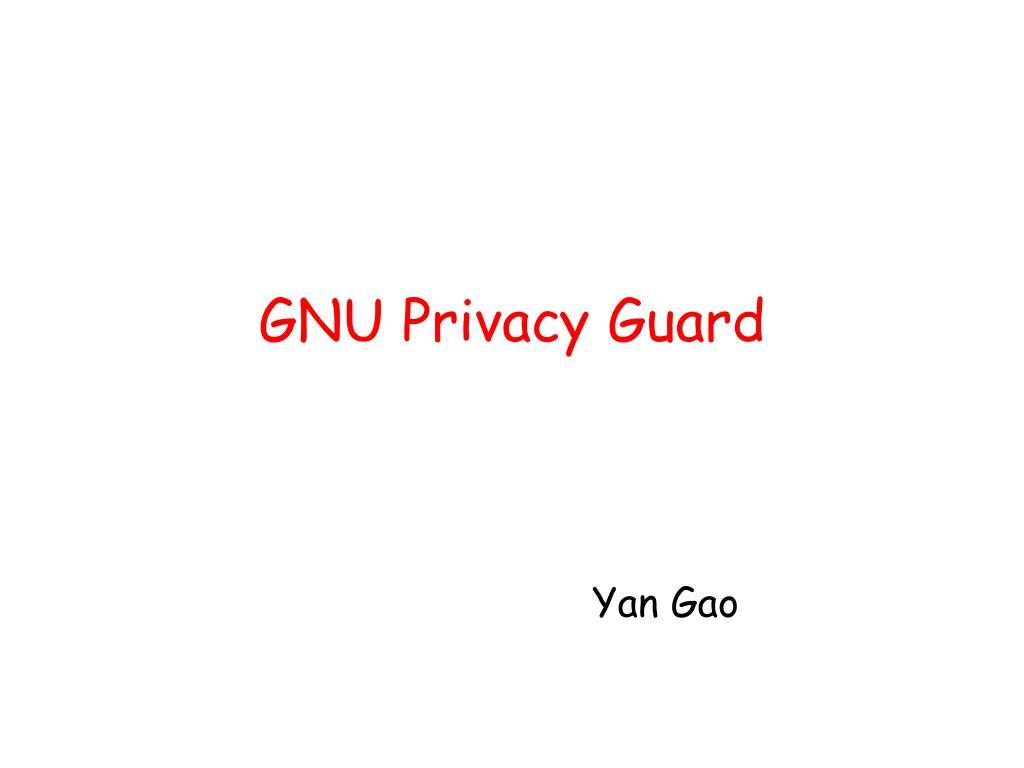 GNU Privacy Guard