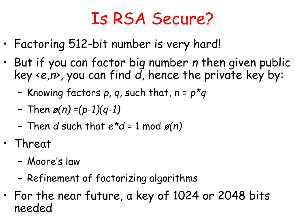 Is RSA Secure?