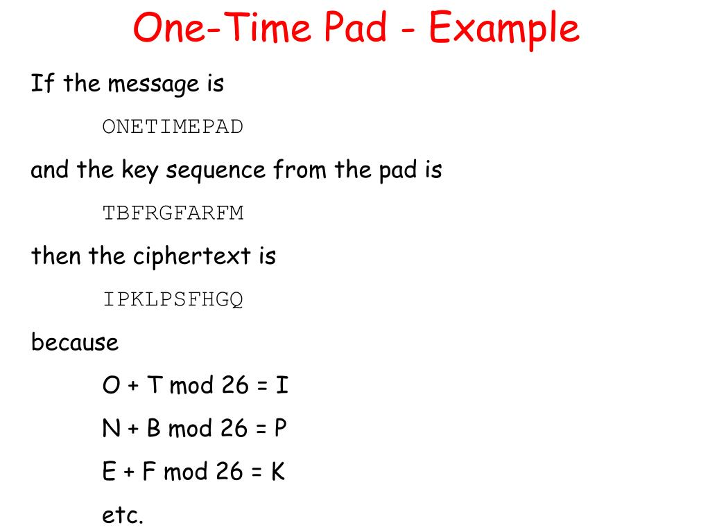 One-Time Pad - Example