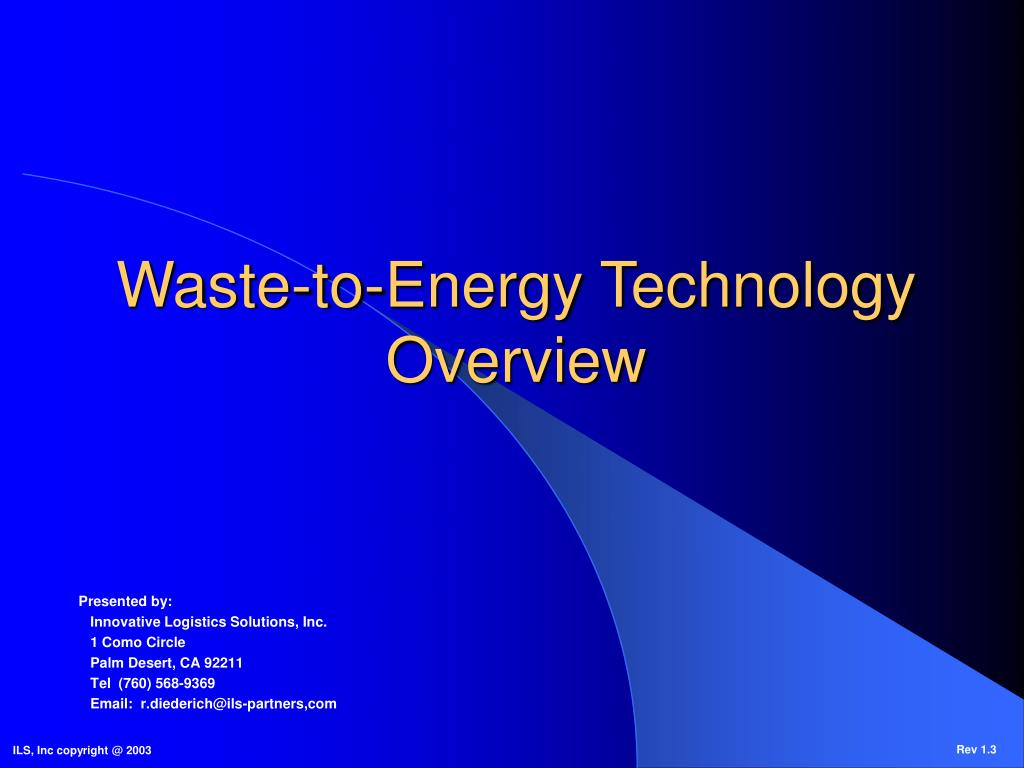 waste to energy technology overview l.