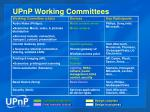 upnp working committees
