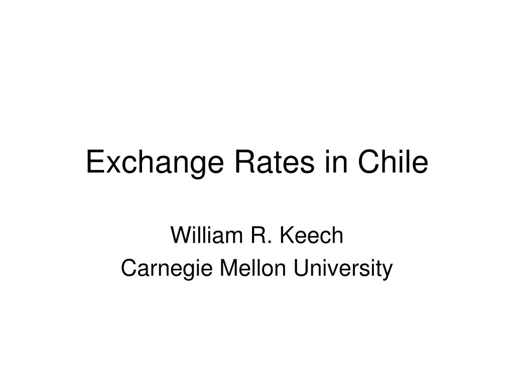 exchange rates in chile l.