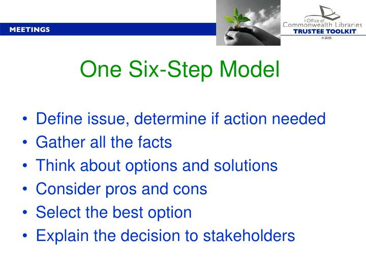 One Six-Step Model