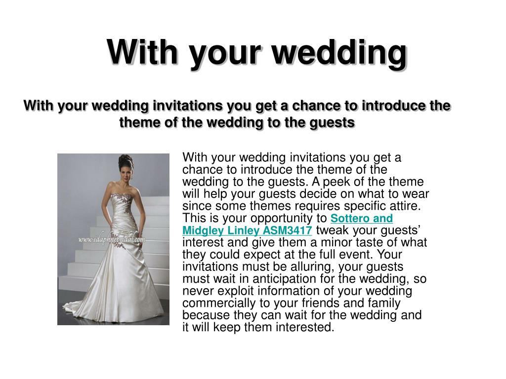 with your wedding l.