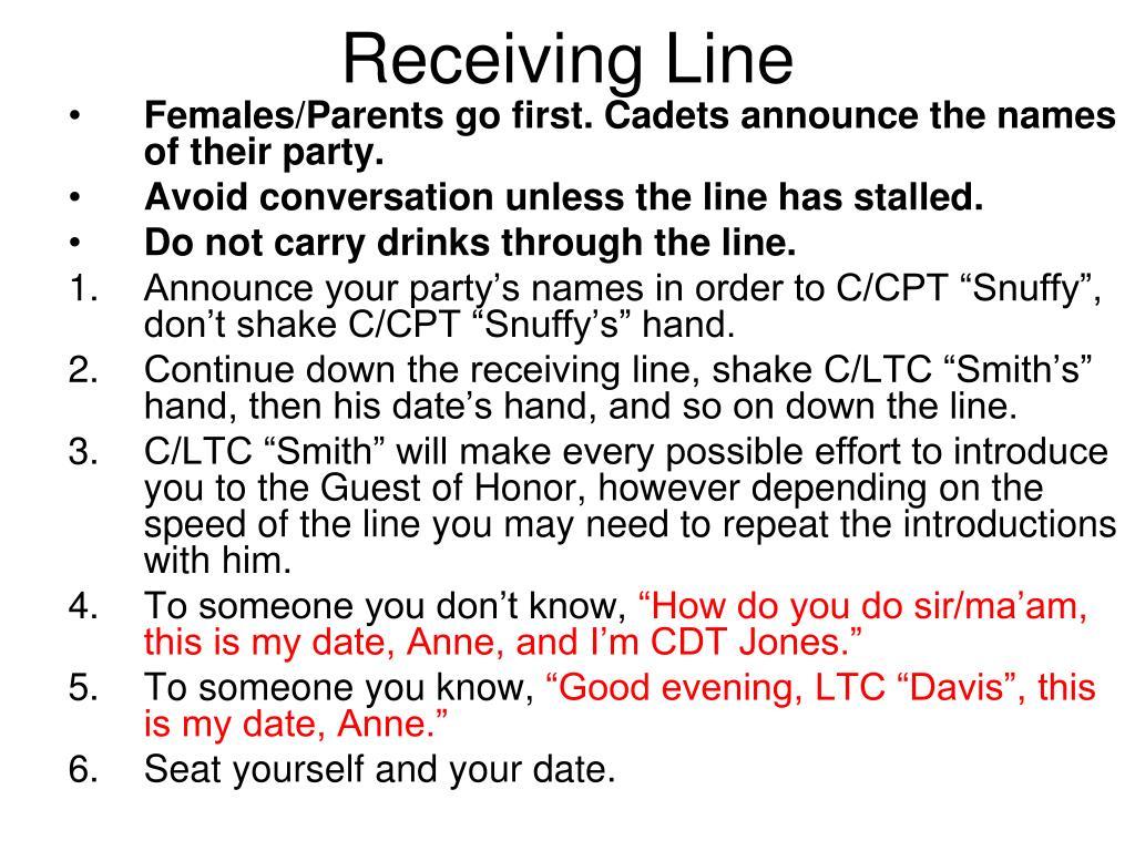 Receiving Line