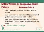 mugs version 5 congestive heart failure coverage code h