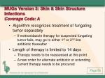mugs version 5 skin skin structure infections coverage code a