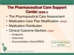 the pharmaceutical care support center qgs 1