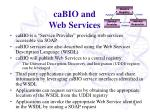 cabio and web services