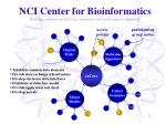 nci center for bioinformatics building common architecture common tools and common standards