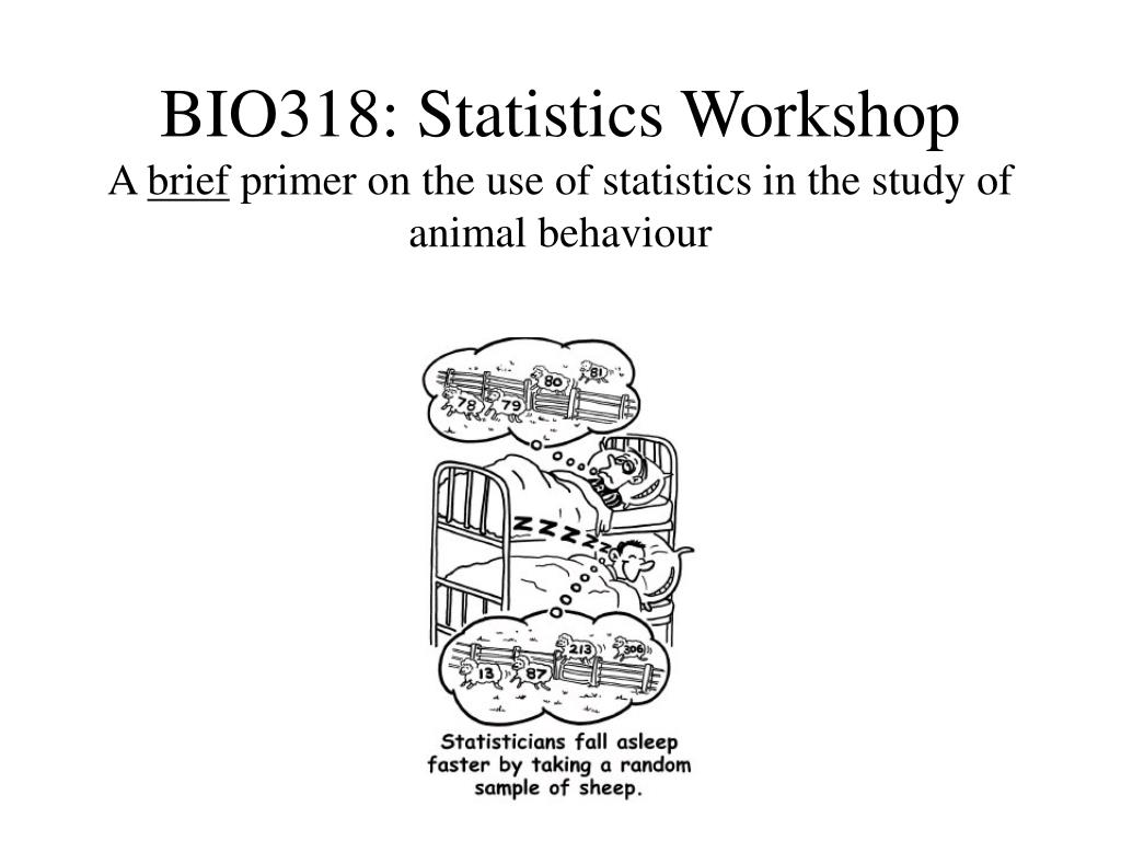 bio318 statistics workshop a brief primer on the use of statistics in the study of animal behaviour l.