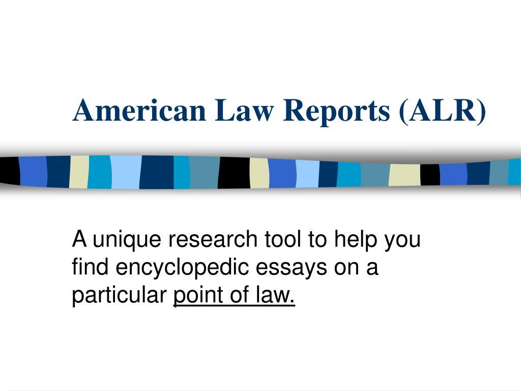 american law reports alr l.