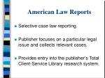 american law reports