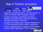 step 4 panther annotation