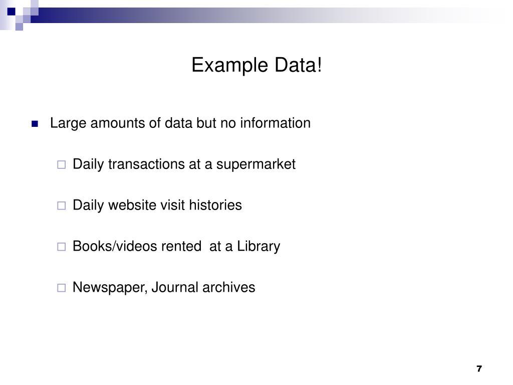 Example Data!