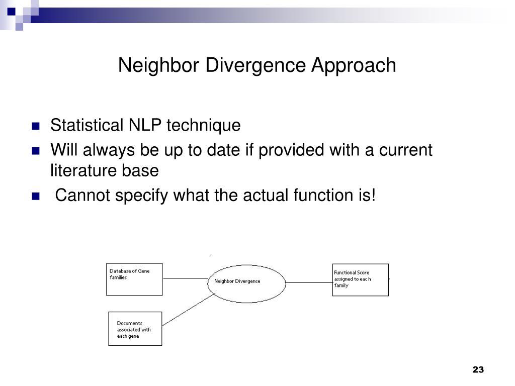 Neighbor Divergence Approach
