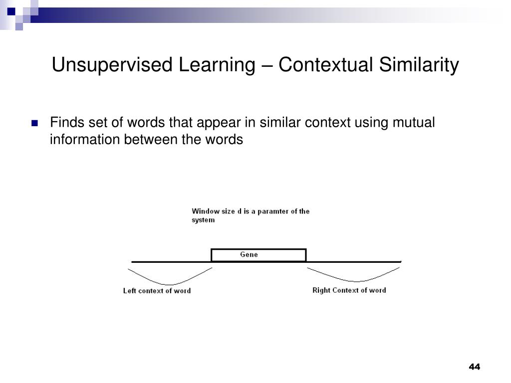 Unsupervised Learning – Contextual Similarity