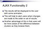 ajax functionality 2