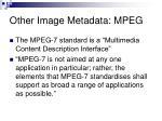 other image metadata mpeg