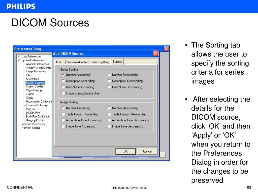 DICOM Sources