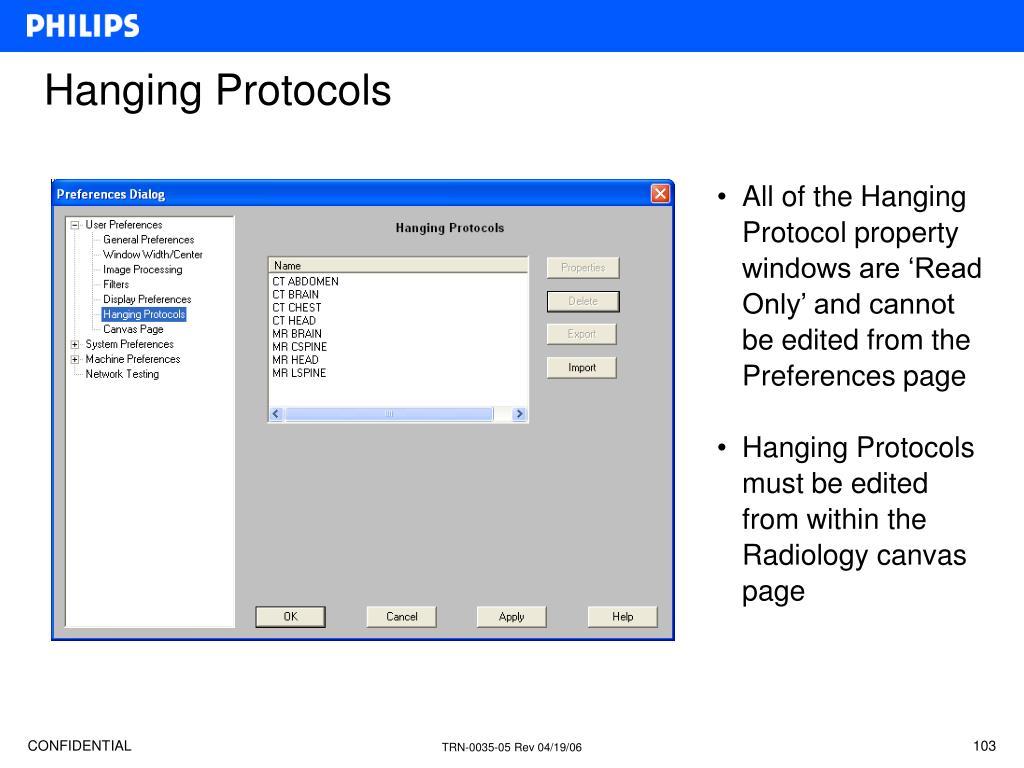 Hanging Protocols