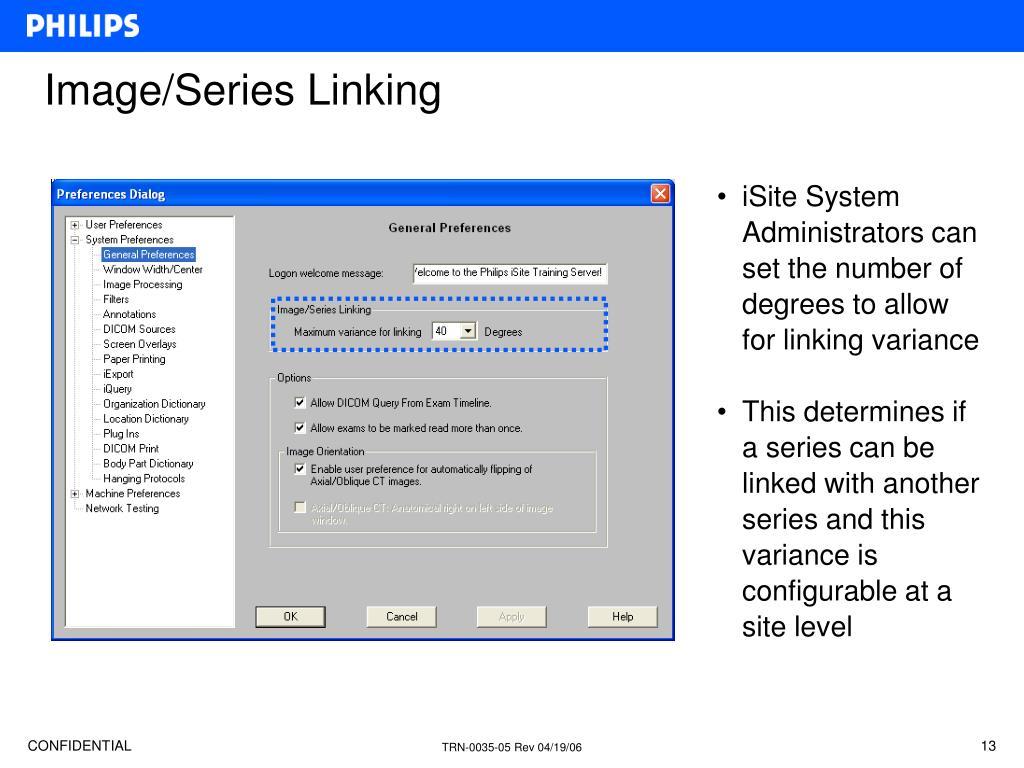 Image/Series Linking