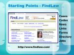starting points findlaw